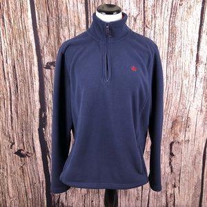 Brooks Brothers 346 1/4 Zip Pullover Fleece Jacket